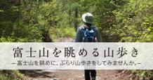 富士山を眺める山歩き